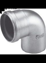 aluminium rookgas bocht 80mm 90graden