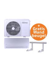 Aanbieding! Qlima SC5232 split unit airco WiFi (snelkoppeling) 3.2kW GRATIS wandbeugel OP=OP