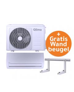 Aanbieding! Qlima SC5225 split unit airco WiFi (snelkoppeling) 2.5kW GRATIS wandbeugel OP=OP