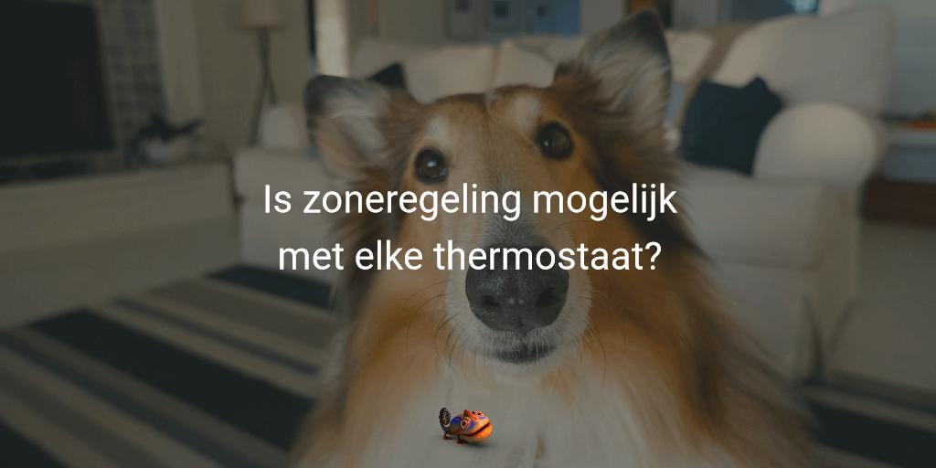 thermostaat geschikt voor zoneregeling