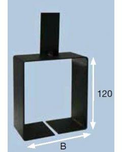 Vloerconsole 150mm tbv alumaxx convectoren