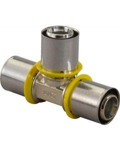 Uponor MLC-G T-stuk, 20mm x 20mm x 20mm messing gas