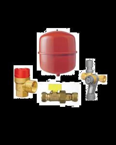 Ketelaansluitpakket 25 liter 0,5 bar rood