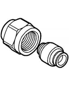 "Uponor 25mmx1/2"" NL koppeling voor VSH knel 22mm"